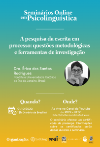 13º Online Seminars in Psycholinguistics